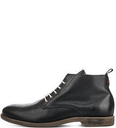Черные кожаные ботинки Nobrand