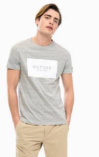 Хлопковая футболка с логотипом Tommy Hilfiger