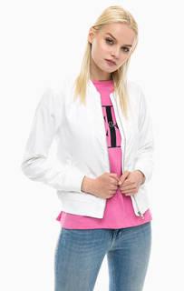 Белая куртка бомбер Calvin Klein Jeans