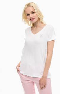 Белая футболка с треугольным вырезом U.S. Polo Assn.
