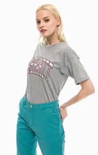 Серая футболка с принтом Carhartt WIP