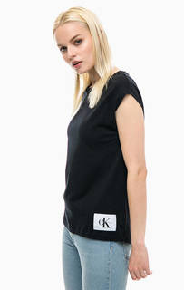 Черная футболка с нашивкой Calvin Klein Jeans