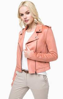Легкая куртка косуха на молнии Tom Tailor Denim