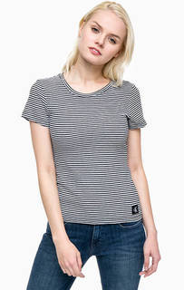 Хлопковая футболка в полоску Calvin Klein Jeans