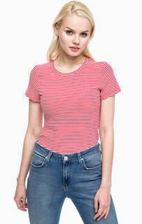 Хллопковая футболка в полоску Calvin Klein Jeans