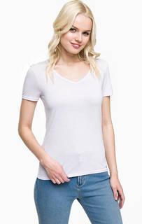 Сиреневая футболка с треугольным вырезом Mavi