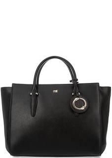 Вместительная сумка черного цвета Cavalli Class
