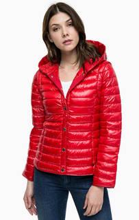 Красная куртка со съемными рукавами Pennyblack