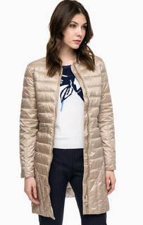 Удлиненная куртка бежевого цвета Pennyblack