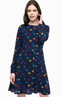 Синее платье с ремнем Sugarhill Boutique