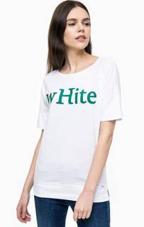 Хлопковая футболка с блестящим принтом Gas