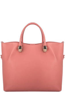 Розовая кожаная сумка через плечо Cavalli Class