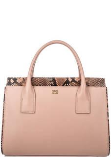 Розовая кожаная сумка на молнии Cavalli Class