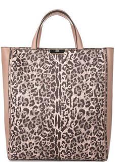 Вместительная сумка с животным принтом Cavalli Class