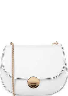 Маленькая кожаная сумка на плечевой цепочке Coccinelle