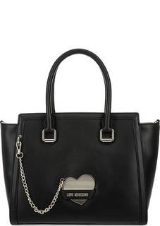 Вместительная сумка с плечевым ремнем Love Moschino