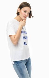Белая футболка с удлиненной спинкой Marc Opolo