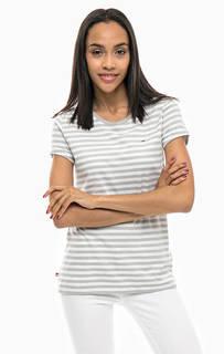 Хлопковая футболка в полоску Tommy Jeans