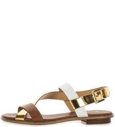 Кожаные сандалии с регулируемым ремешком Michael Michael Kors