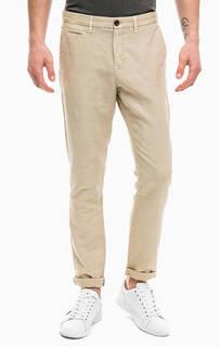 Бежевые хлопковые брюки чиносы Tommy Hilfiger