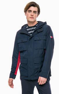 Синяя куртка с карманами и капюшоном Tommy Hilfiger