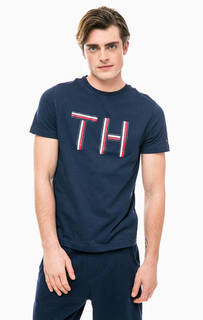 Хлопковая футболка с принтом Tommy Hilfiger