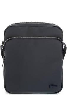 Синяя сумка через плечо с текстильным ремнем Lacoste