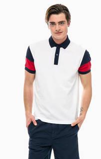 Хлопковая футболка поло с контрастными вставками Tommy Hilfiger