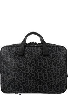 Вместительная сумка с монограммой бренда Calvin Klein Jeans