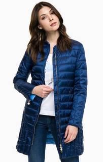 Удлиненная куртка синего цвета Pennyblack