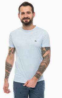Однотонная футболка из хлопка Lacoste