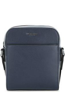 Синяя кожаная сумка через плечо Michael Michael Kors