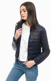 Синяя стеганая куртка More & More