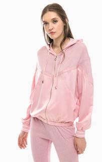 Розовая куртка с вставкой из вискозы Liu Jo Sport