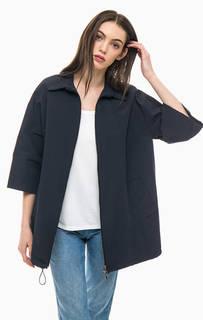 Удлиненная синяя куртка на молнии More & More