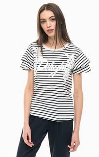 Полосатая футболка из хлопка More & More
