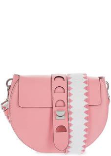 Маленькая сумка из гладкой кожи с двумя плечевыми ремнями Coccinelle