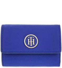 Синий кошелек с двумя отделами для купюр Tommy Hilfiger