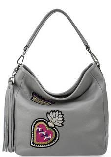 Кожаная сумка с короткой съемной ручкой Curanni