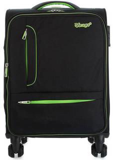 Текстильный чемодан на колесах с дополнительной сумкой Verage