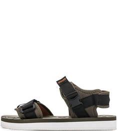 Текстильные сандалии цвета хаки Napapijri