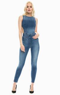 Синий джинсовый комбинезон с брюками Guess
