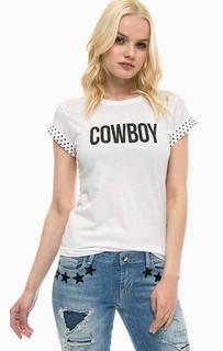 Белая футболка с металлической отделкой Guess