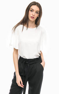 Однотонная блуза с короткими рукавами More & More