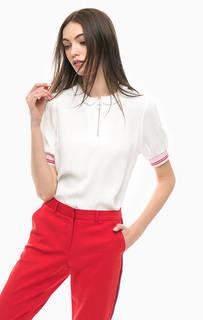 Белая блуза с короткими рукавами More & More