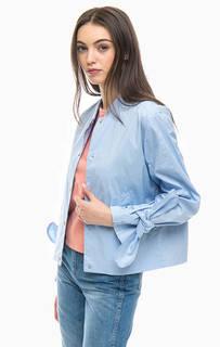 Легкая куртка голубого цвета на кнопках More & More