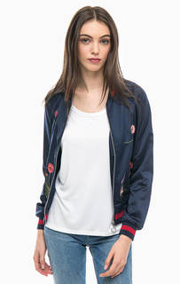 Легкая атласная куртка с цветочной вышивкой Tom Tailor
