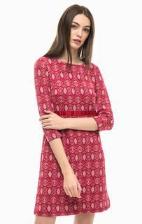 Трикотажное мини платье с расклешенной юбкой More & More
