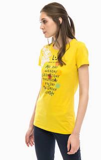 Хлопковая футболка с принтом Liu Jo