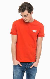 Красная хлопковая футболка Jack & Jones